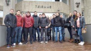 KTU PTVF studentai Panevėžio miesto apylinkės teisme stebėjo baudžiamosios bylos posėdį