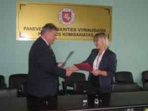 Bendradarbiavimas su Panevėžio apskrities VPK