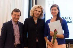 Magistrantė Jovita Pinigienė – mecenato J. P. Kazicko stipendijos laimėtoja