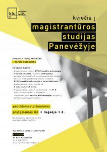 KTU Ekonomikos ir verslo fakultetas kviečia į magistrantūros studijas Panevėžyje