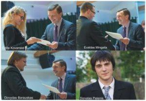 Rektoriaus stipendijos įteiktos keturiems KTU Panevėžio technologijų ir verslo fakulteto studentams