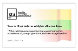 Sveikiname su Lietuvos valstybės atkūrimo diena!